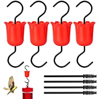 EEEKit 蜂鸟喂食器蚂蚁和昆虫防护装置/蚂蚁护具,花鸟喂食器配件挂钩/挂钩适用于户外,4 个Moat和4 个清洁刷