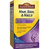 Hair, Skin & Nails 2500微克生物素软胶囊 补充剂,60粒