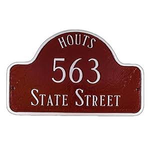 Montague Metal Products 33.02 x 50.8 厘米拱形带名字地址牌,大码