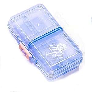 XIDUOBAO 药盒收纳盒周盒,优质设计药盒 - 大容量迷你旅行药盒,*药丸盒收纳盒 Blue(02) PI-1