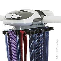Mind Reader 自动机动旋转带和皮带架带内置 LED 灯,衣柜收纳袋
