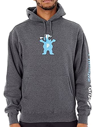 Primitive Grizzly Charcoal Heather Mascot Hoody (, Grey)