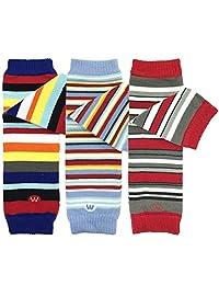 Bowbear Baby 3 双装暖腿套,*蓝,天蓝色,红色条纹