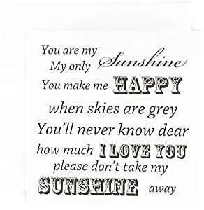 PS Vintage - You Are My Sunshine- 文字艺术- 复古歌曲 - 贺卡 Individual Greeting Card