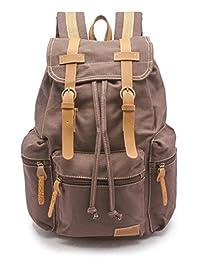 sweetbriar 复古帆布背包–笔记本电脑保护 UP TO 39.6cm 棕色