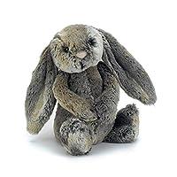 "Jellycat Bashful Woodland 兔子 Medium - 12"" 棕色"