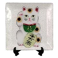 彩光舍 七宝烧 種類 : 飾り皿 約12x12cm 027-04