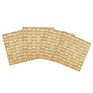 Kess InHouse Catherine McDonald Swan Lake Turquoise 户外餐垫,15 x 15 英寸,4 件套