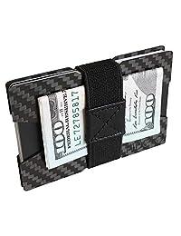 FIDELO 信用卡夹极简钱包 - 碳纤维纤细钱包钱夹