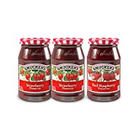 Smucker's Preserves, Strawberry/Red Raspberry, 3 Count (Pack of 3)