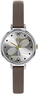 Orla Kiely 欧拉·凯利 中性成人模拟经典石英手表皮革表带 OK2251 银色