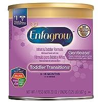 Enfagrow 美赞臣 Gentlease Toddler Transitions 2段 9-18个月 适度半水解 婴幼儿配方奶粉 567g/罐 单罐装 防胀气配方
