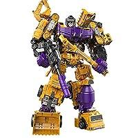 迪邦 儿童玩具变形工程车大力金刚六款合体系列 (推土车+挖掘机+搅拌车)
