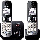 Panasonic松下 KX-TG6822GS DECT - 无绳电话,图形显示屏带电话答录机 Schwarz, Silber - Duo Duo mit Anrufbeantworter