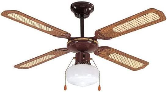 Akai VS107WL 风扇 棕色,白色 – 风扇(家用喇叭风扇,棕色,白色,天花板,金属,木材,AC,230 V)