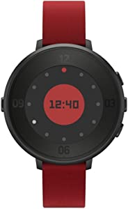 Pebble Time Round 14mm Smartwatch for Apple/Android Devices Black/Red