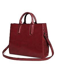 女式上衣手柄挎包手提包 zzsy 油蜡皮革手提包时尚大容量单肩包