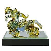 手工制作玻璃细工 风水 * 吉祥 貔貅(貔貅) 色彩 大 CKF023MC