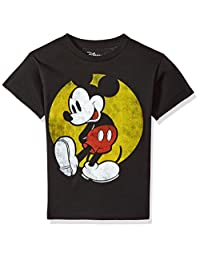 迪士尼米奇老鼠 SUN 图案 T 恤