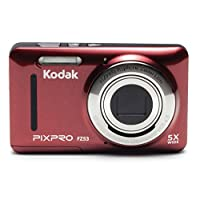 Kodak 柯达 FZ 53 数码相机 红色 (1615万像素 2.7英寸屏 5光学变焦 28mm广角 720P高清拍摄)