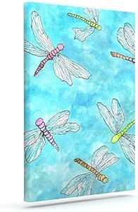 "Kess InHouse Rosie 棕色""蜻蜓""户外帆布墙壁艺术 8"" x 10"" 棕色 RB1010AAC01"
