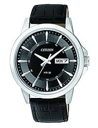 CITIZEN 西铁城 男士手表,指针式,石英,真皮 BF2011-01EE