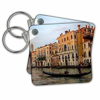 3drose danita delimont–意大利–gondola ALONG THE Grand canal RIALTO Bridge 威尼斯意大利–钥匙扣