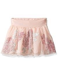 Guess 女童小针织网眼亮片花朵短裙