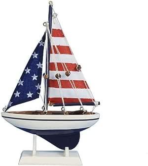 Hampton Nautical Pacific Sailer 96 months to 600 months 9英寸 美国国旗