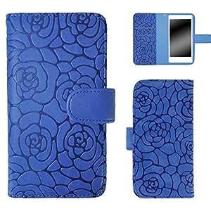 白色坚果茶花保护套保护壳翻盖式  蓝色 2_ Xperia L2 H4311