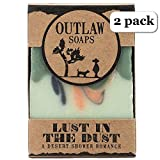 Lust in the Dust Soap - 2 Pack of handmade soap that smells like high noon in the high desert (sagebrush and sandalwood) - Men's or Women's Soap