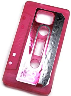 So'axess TPUSGI9100-44 硅胶手机壳适用于三星 i9100 Galaxy S II - 粉色带 K7 Cassette Motif
