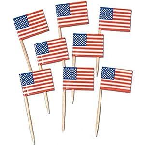 Pkgd U S Flag Picks Party Accessory (1 Count) (50/pkg) Pkg/6