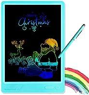 KURATU 男童玩具,适合 3-12 岁女孩男孩礼物,液晶写字板 10 英寸涂鸦板,电子绘图板,4 5 6 7 8 9 岁男孩和女孩的教育生日礼物(蓝色-加大码)