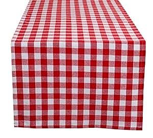 Glamburg 支票桌布 红色 16x72 26908