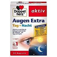 Doppelherz Augen Extra胶囊白天+夜晚 膳食营养补充剂 含维生素A和锌 -蓝莓提取物和叶黄素 1 x 30颗 胶囊