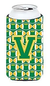 字母 W 橄榄绿和金色葡萄*瓶饮料保温器 Hugger CJ1069-WLITERK