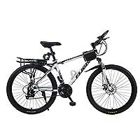 26/24寸双碟刹变速山地前叉可减震自行车21/24速男女式代步公路单车