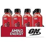 Optimum Nutrition 欧普特蒙必需氨基能量,即饮,果汁味饮料,含绿茶和生咖啡提取物的锻炼前和必需氨基酸,12 瓶