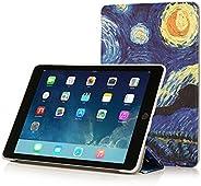 RUBAN iPad Mini 4 保護殼 - 超薄輕質智能外殼立式保護套,具有自動喚醒/休眠功能,適用于 Apple iPad Mini *四代型號 A1538/A1550 Retina 平板電腦,黑色IPAD-MIN