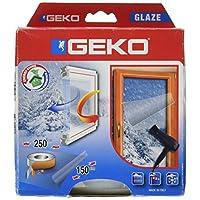 Geko 绝缘透明 Filom 适用于 Windows(包括双面粘合胶带,15M)Cm 150 x 250 CM,透明,包装盒包装