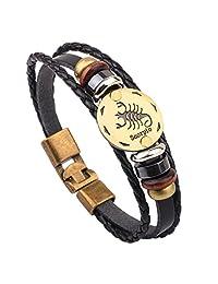 charmed 工艺手工星座星座 CONSTELLATION 铜合金皮革编织绳手链