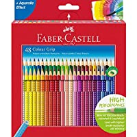 Faber-Castell 辉柏嘉 112449 – 彩色铅笔 Colour Grip 48支 纸盒装