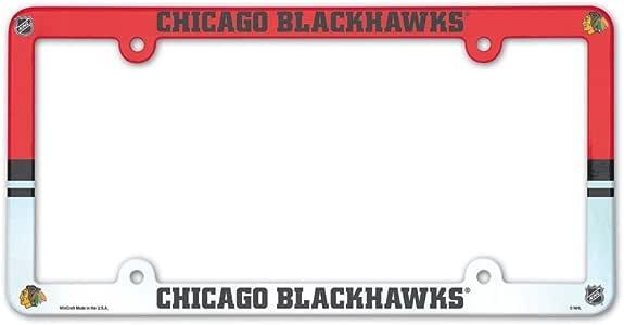 Wincraft 芝加哥黑鹰队 官方 NHL 30.48 厘米 x 15.24 厘米 塑料车牌架