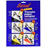 Saral Wax Free Transfer Paper Sampler In Includes 1 Each of White Graphite, Yellow, Blue and Red 1