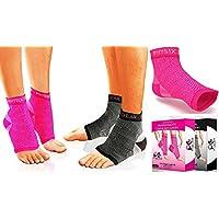 足底*袜,男女皆宜 - *好的 24/7 压力袜脚套,缓解* - 水洗良好,保持形状,比夜间夹板更好