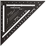 Johnson Level & Tool Johnny Square,专业易读铝材粗呢方形带外手册 12in 211313