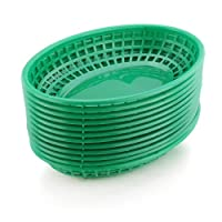 New Star 44126 Fast Food Baskets, 9.25 by 6-Inch, Green, Set of 12