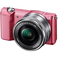 Sony 索尼 ILCE-5000L/P 微单™ 数码相机 单镜套装(E PZ 16-50mm F3.5-5.6 OSS)  (粉色)