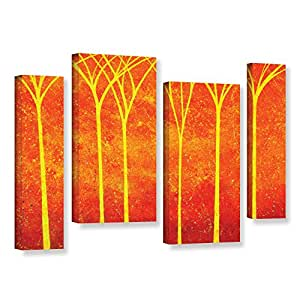 ArtWall 4 Piece Herb Dickinson's Contemplative Gallery Wrapped Canvas Staggered Set, 24 x 36""